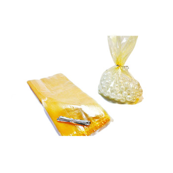 Orange Cellophane Candy Bag