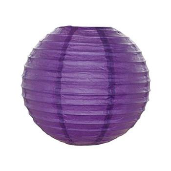 """16"""" Purple Round Paper Lantern"""