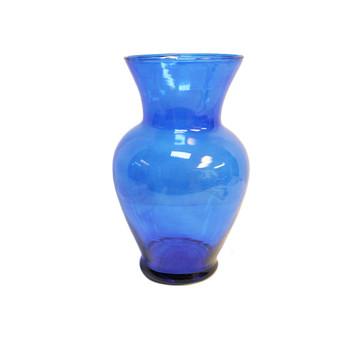 """11""""H Cobalt Spring Glass Vase"""
