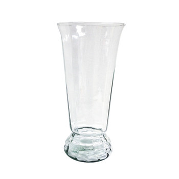 "14""H Clear Greco Glass Vase"