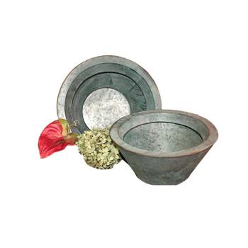 Round Metal Planter Set