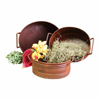 Oval Antique Planter Set