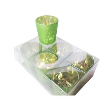 "2.5"" Green Mercury Glass Votive Candle Holder"