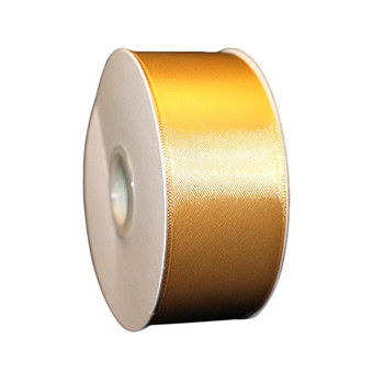 "1.5"" Gold Double Face Satin Ribbon"