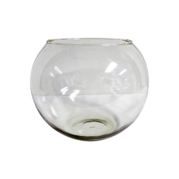 "10"" Fish Bowl Glass Vase"