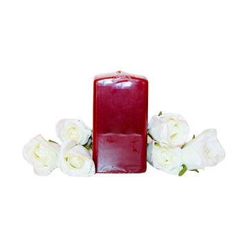 "2.75""X5"" Pomegranate Square Pillar Candle"