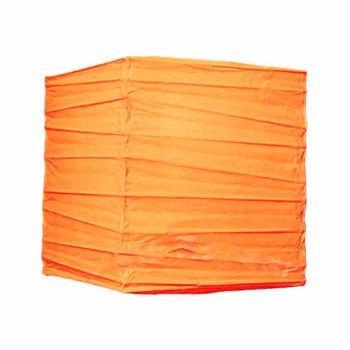 """10"""" Orange Rectangular Paper Lantern"""