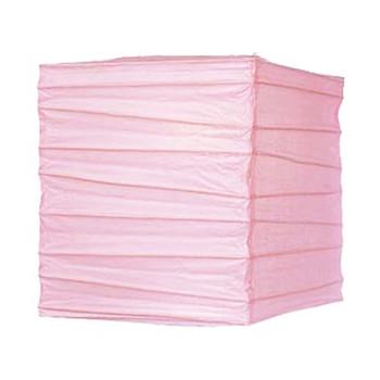 """10"""" Pink Rectangular Paper Lantern"""