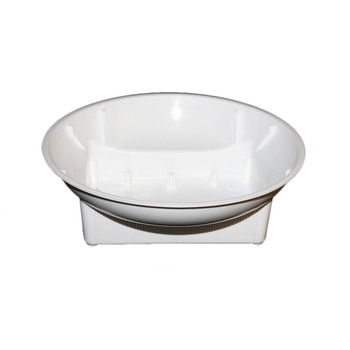 "6"" White Single Design Bowl"