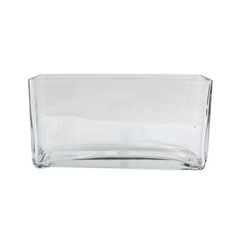 "10""x 5""H  Glass Rectangular Vase"