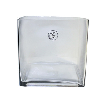 """8"""" Clear Glass Cube Vase"""