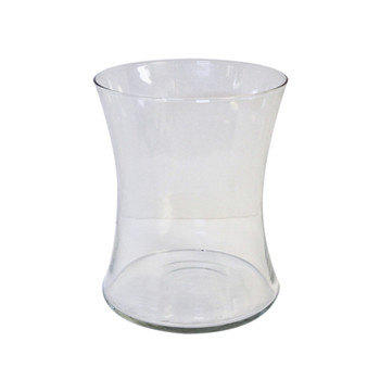 "8""H Clear Gathering Glass Vase"