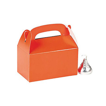 "3"" Orange Rectangular Treat Boxes"