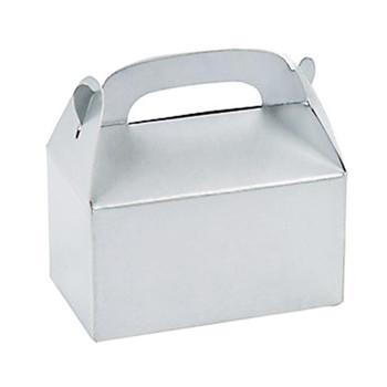 "3"" Silver Rectangular Treat Boxes"