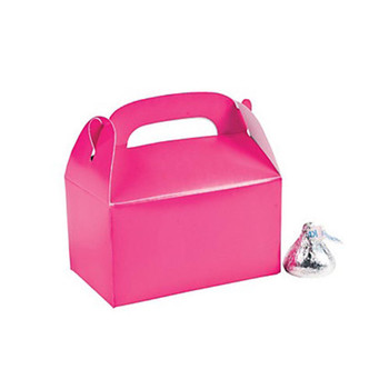"3"" Hot Pink Rectangular Treat Boxes"