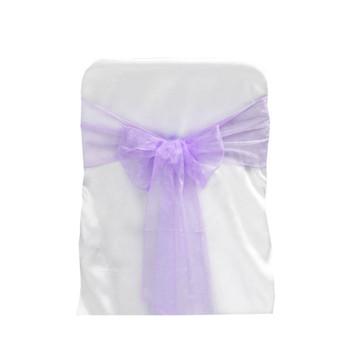 Lavender Organza Chair Bow 6 Ps