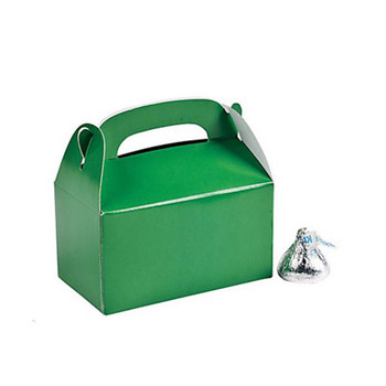 "3"" Green Rectangular Treat Boxes"
