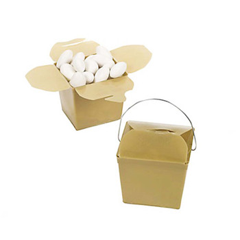 "2.25"" Gold Take Out Boxes"