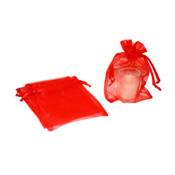 "4"" Red Organza Pouch"