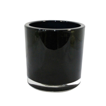"5""H Black Glass Cylinder Vase"