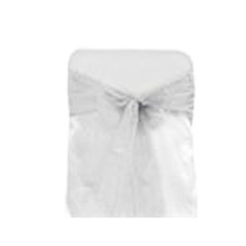 Silver Organza Chair Bow 6 Pcs