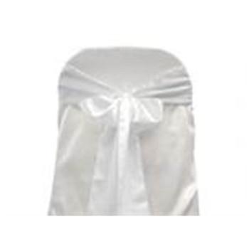 White Satin Chair Bows 6 Pcs