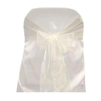 Ivory Organza Chair Bow 6 Pcs