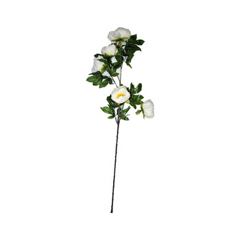 "45"" White Long Stem Peony Flower"