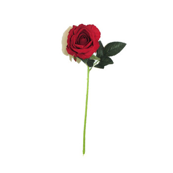 "20"" Red Long Stem Single Rose Flower"