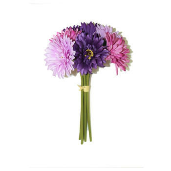 "12"" Bunch Gerber Daisy, 7 Stems. Purple/Lavender"