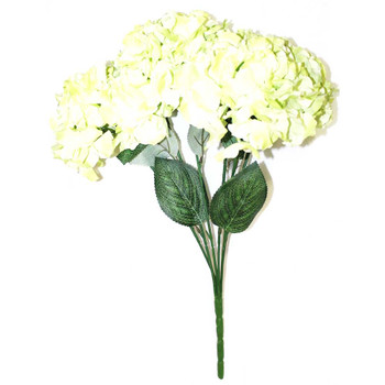 Artificial Hydrangea 6 Stems. Green