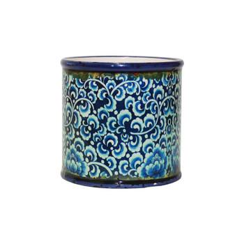 Blue Mosaic Ceramic Cylinder