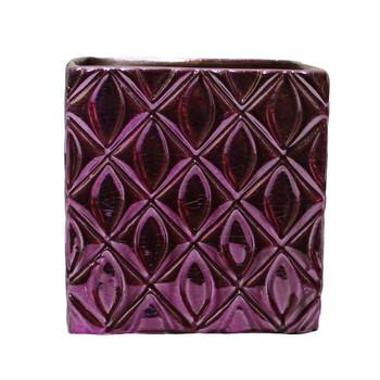 """4"""" Purple Ceramic Cube"""