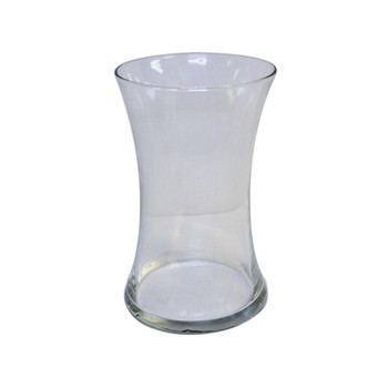 "8""H Clear Small Gathering Glass Vase"