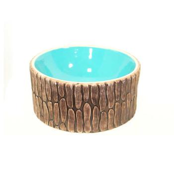 """9"""" Turquoise Round Ceramic Vase"""