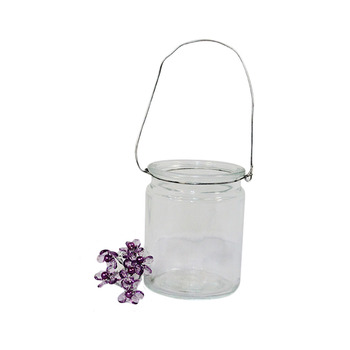 "4""  Clear Hanging Cup Candle Holder"