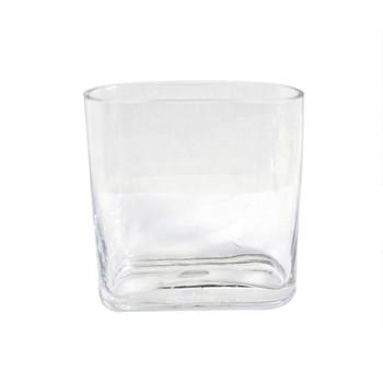 "5.25""H  Squarish Glass Vase"