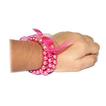 Special Pink Avery Flower Bracelet