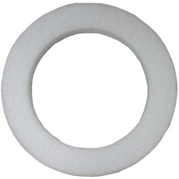 """24"""" x 2"""" White Styrofoam Wreath"""