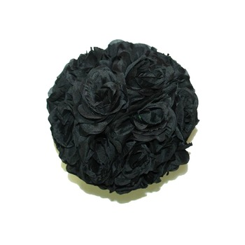 """10"""" Black Flower Ball"""