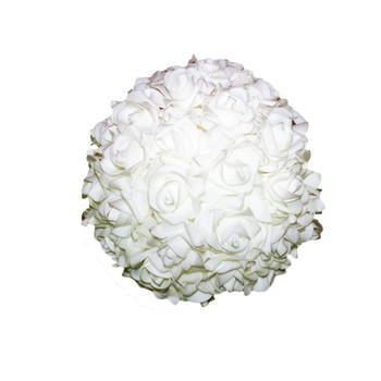 """10"""" White Flower Foamy Ball"""