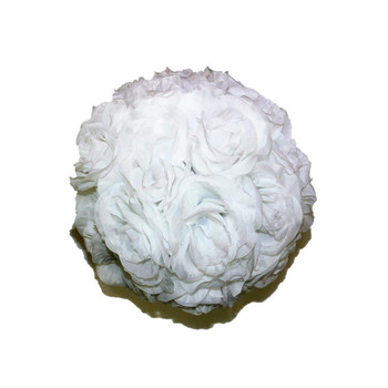 "10"" White Flower Ball"