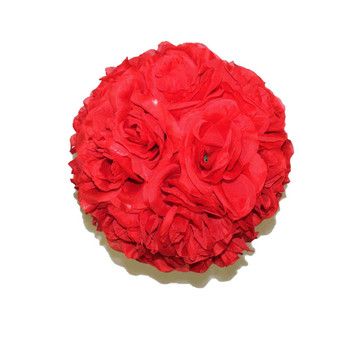 "10"" Red Flower Ball"