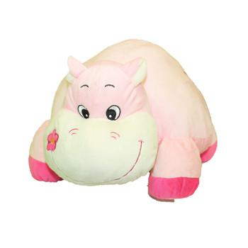 "16"" Lying Animal Pink Hippo"
