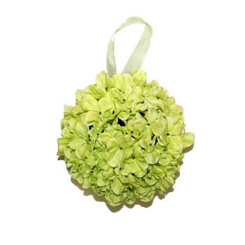 """9"""" Light Green Hydrangea  Flower Ball"""