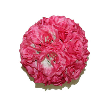 "7"" Pink And White Flower Ball"