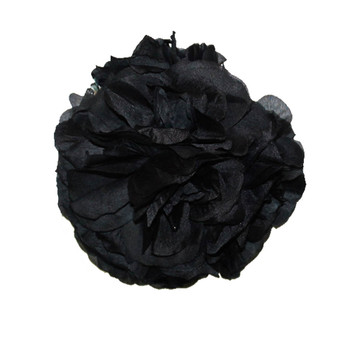 "7"" Black Flower Ball"