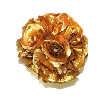 "7"" Golden Flower Ball"