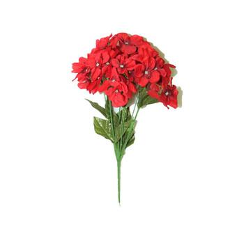 """14"""" Red Hydrangea Bunch Flower"""