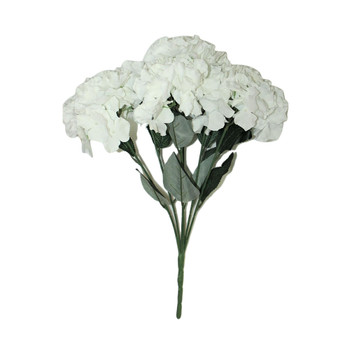 "20""  White Hydrangea Bunch Flower"
